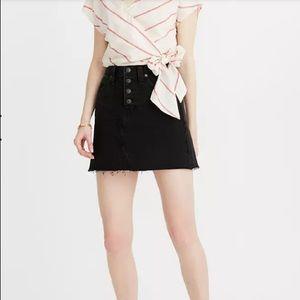 Madewell denim mini skirt button front lunar 30